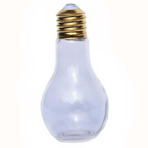 Black Temptation DIY Cristal Que Desea Botellas Forma de la Bombilla Lucky Bottle Set de 2