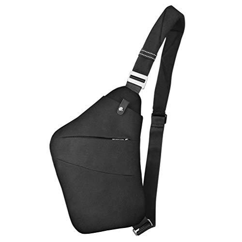 VBIGER Schultertasche Brusttasche Sling Crossbody Bag Daypack Anti-Diebstahl Umhängetasche für Herren und Damen (Schwarz2)