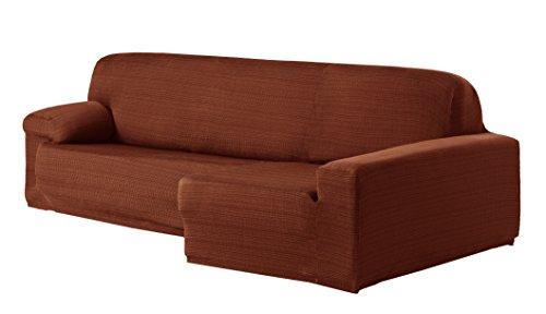 Eysa Aquiles Élastique Chaise Longue Droite, Vue frontale, Polyester Coton, Orange, 43x37x14 cm