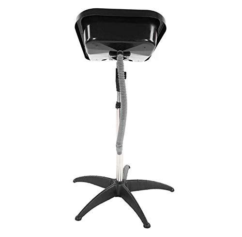 XJZKA Lavabo de champú portátil con Altura Ajustable, Lavabo de peluquería, Herramienta de peluquería con Manguera de Drenaje, Equipo de salón de Belleza para Peluquero (Negro) (tamaño:
