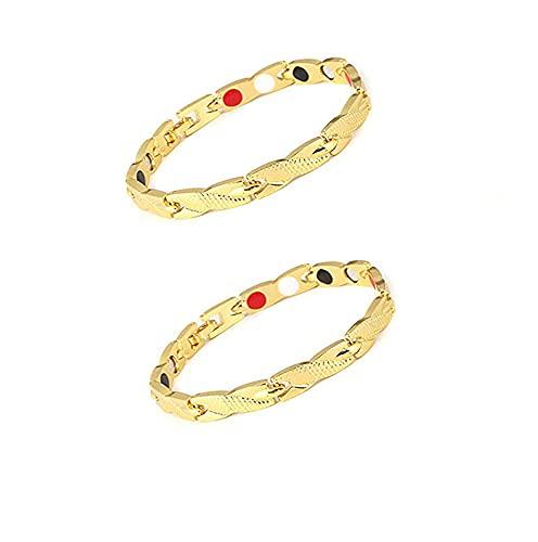 HUALAI Dragon Pattern Chain Bracelet,Ultra Strength Magnetic Therapy Bracelet,Men's Titanium Steel Bracelet,Adjustable Magnetic Therapy Bracelet For Adults Unisex (D)