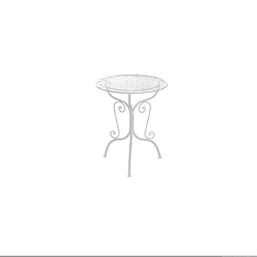 m unich sales Gartensitztisch Vintage Rialto Low, weiß Durchmesser Ø 62 cm, Höhe 73 cm
