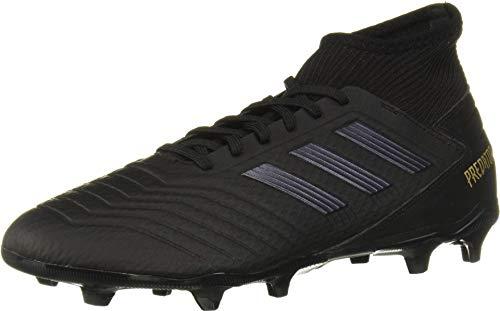 adidas Predator 19.3 Firm Ground Soccer Shoe (mens) Black/Black/Gold Metallic 10