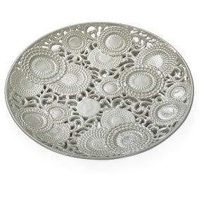 Centro de mesa de porcelana gris 'KYOTO' diám. 43 D17657