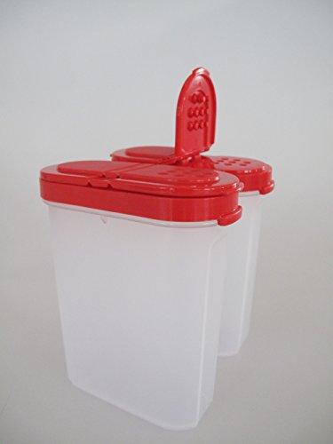 TUPPERWARE set de boîte à épices 2 a91 de 2 récipients à épices épices rouge