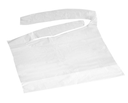 Price comparison product image Disposable Plastic Bibs with Crumb Catcher (500-case)