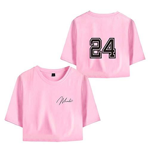 Camiseta de Mujer 8 Kobe Bryant Lakers Camiseta de Manga Corta para 24 Kobe Bryant Sudadera Tops de Niña