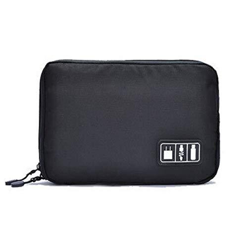 Elonglin Sac de Rangement de Câbles, Pochette Organisateur de Voyage pour Accessoires Electronique, Câble, Cordon, Mini iPad, USB,...