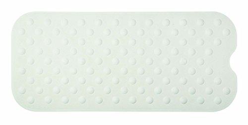 Spirella Duschmatte Anti Rutsch Matte Circola antibakteriell rutschfest waschbar 90x40cm Naturkautschuk PVC Frei Weiß