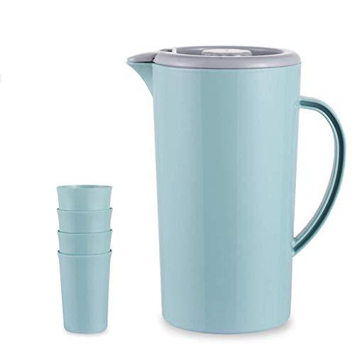 Riyyow Hervidor de Agua frío Hervidor de Agua Fresco Copa de Agua Alta Temperatura fría Taza fría Taza de Agua Conjunto Paquete de plástico Kettle Gran Capacidad (Color : Light Blue)