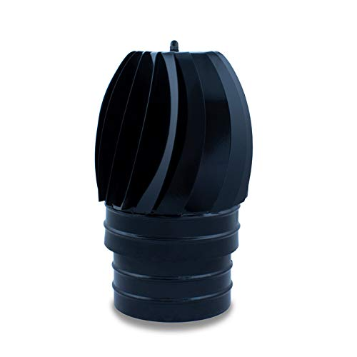 Sombrerete aspirador, terminal, vitrificado para chimeneas y estufas de leña y pellet, cualquier diámetro, autoconectables. (150 mm)