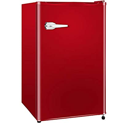 SWHOME Mini Upright Freezer Compact Refrigerators - 1.2/2.3/3.0Cu.ft Small stand up Freezer with Reversible Door for Home Office