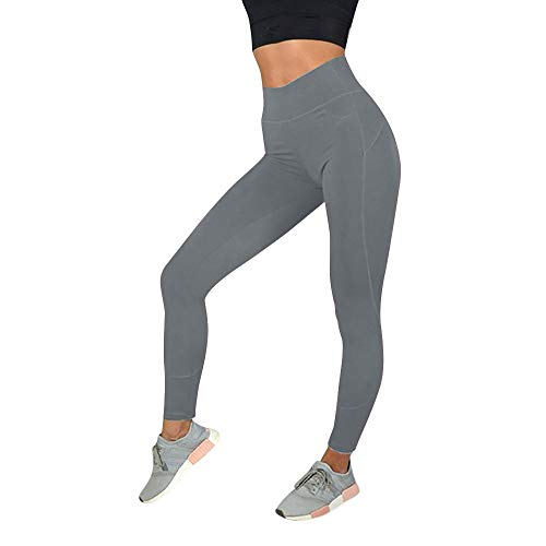 Amober High Waist Yoga Pants with Pockets, Tummy Control, Workout Pants for Women Stretch Yoga Leggings with Pockets