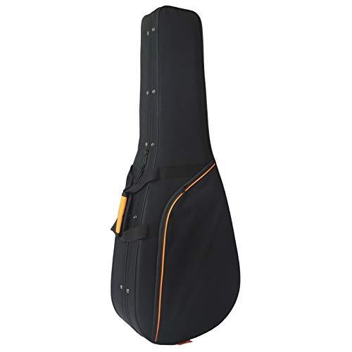 Estuche de Foam para Guitarra Clásica marca CIBELES - Negro - Perfil Naranja