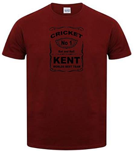Veedub ropa de críquet Kent diseño Rojo rojo (Maroon) M ⭐