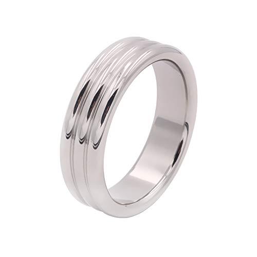 Ring Spielzeug Verdickung Vertiefung des Musters Metallring - C -ck Einstellbare Größe Magnetische Physiotherapie Beschneidung Kurve Schleifring V Typ Pēnǐs Ring Männer 1,49 Zoll