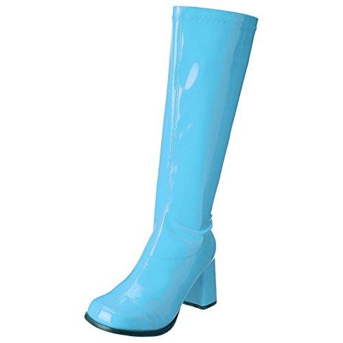Blue Gogo Boots Size 8