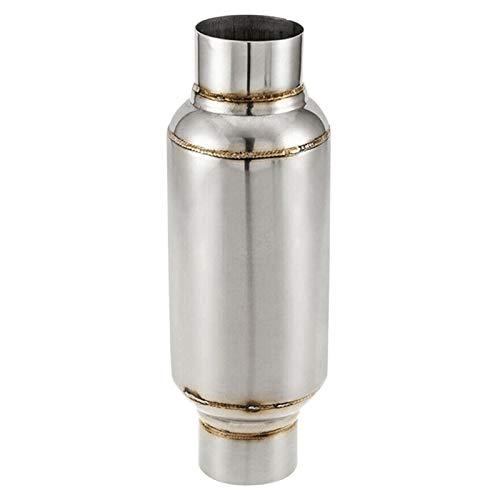 GYYY 2,5-Zoll-Inlet Universal-Resonator/Leistung Schalldämpfer Edelstahl 11,5 Zoll