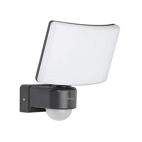 Oktaplex Lighting LED Strahler mit Bewegungsmelder Außen Cali Motion 30W | Wand Außenstrahler IP65 anthrazit 3000K warmweiß mit Master Funktion