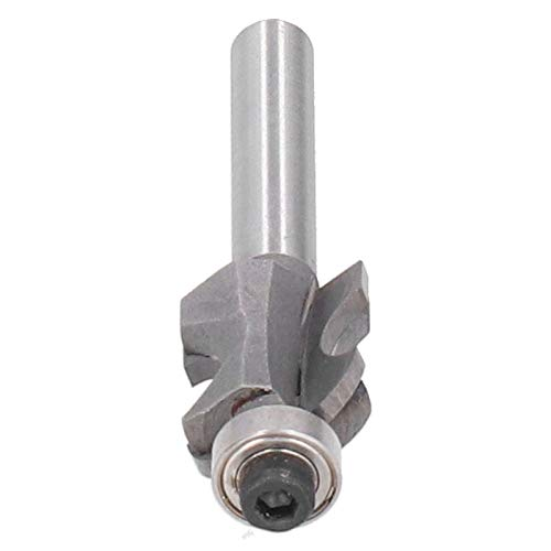 Weikeya Stile Router Bits, Carbon Steel Wide Range 1/4 * 1/4 handle cabinet line cutter woodworking milling cutter Slab Flattening Router Tarn Head Yg8 Alloy, Knife Body 45# Carbon Steel for
