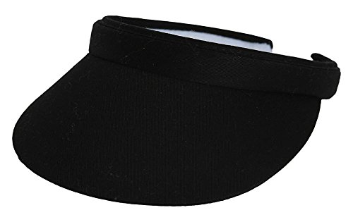TopHeadwear Sports Cotton Twill Clip-On Visor - Black