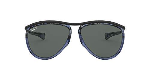 Ray-Ban Olympian Aviator Gafas, Azul, 59 Unisex Adulto