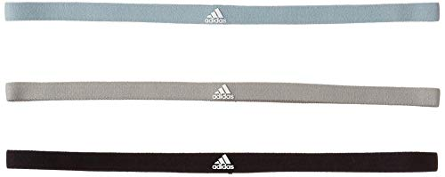 adidas 3er-Pack Haarband, Black/Solid Grey/Ash Grey, OSFM