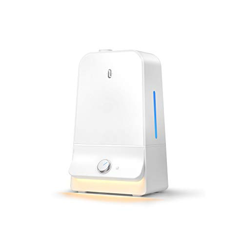 加湿器 TaoTronics 超音波式 6.0L大容量 26db超静音 高さ1mのミスト 60時間の長時間連続稼働 空焚き防止14.5-24畳対応 ナイトライト付き 部屋 オフィス 卓上 乾燥/花粉症対策 省エネ TT-AH025進化版 ホワイト
