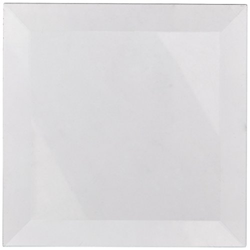 School Specialty Glass Square Bevel, 4 X 4 in, Clear, Set of 6