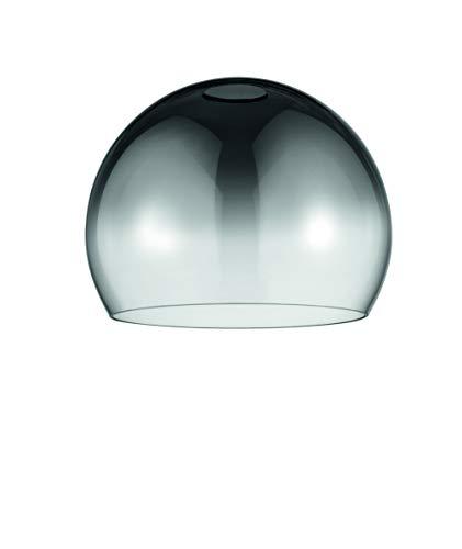 E27 Ersatzglas Vintage Retro Rauchglas XXL Kugelglas Ersatzschirm Ø20cm Pendelleuchte Tischleuchte Lampe