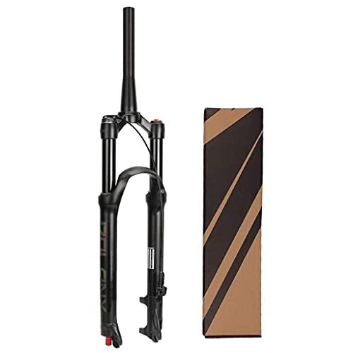 LYTBJ Horquilla de suspensión MTB de Bicicleta de 26/27,5/29 Pulgadas, Horquillas de Aire de Freno de Disco ultraligeras para Bicicleta de montaña XC Offroad, Ciclismo de Descenso
