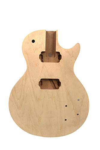 Nuevo cuerpo de guitarra caoba arce Cap DIY guitarra eléctrica Set de repuesto en guitarra eléctrica sin terminar DIY (pegamento en)