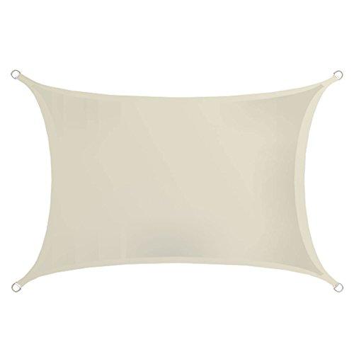 AMANKA UPF50+ Sonnensegel 3x2 UV Schutz Regenschutz Windschutz Polyester Beige