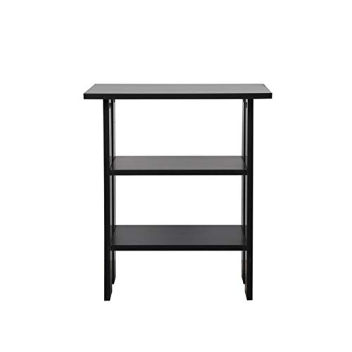 AllRight Storage Side Table Coffee Table Wooden Table Nightstand Home Bedroom Table Black