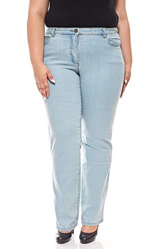 sheego Jeans Denim Denim Ricami di Grandi Dimensioni Blu, Dimensione:44 (88 Langgröße)