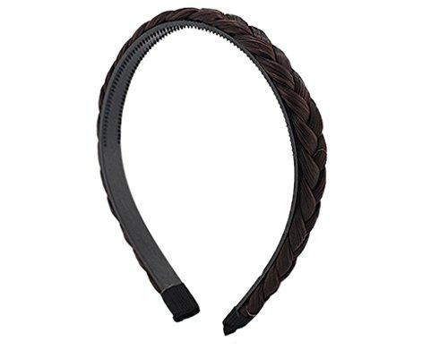BONAMART Elegant Elastisch Haarband Geflochten Braun Blond Stirnband Perücke Damen 24849