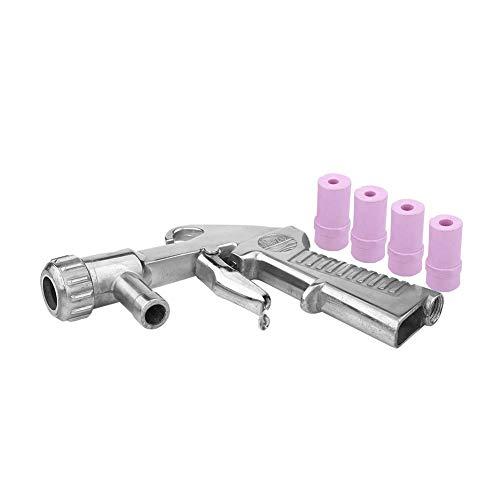 Sandblaster Kit Pistola de Chorro de Arena Chorreadora Air Sifón Boquilla Arenado Abrasivo con 4 Boquillas de Cerámica 4.5/5/6/7 mm
