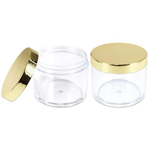 Leak Proof Clear Acrylic Jars w/Lids