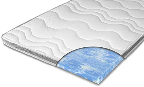 ARBD Matratzenauflage - Topper | Modelle mit 7-12cm Gesamthöhe | waschbarer Bezug mit 3D-Mesh-Klimaband (H2-7 cm, 100 x 200 cm)