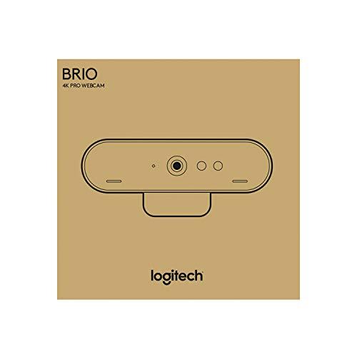 Logitech Brio Ultra HD Pro Webcam, Streaming Fluido 1080p/60fps, Campo Visual Ajusable, Zoom X5, Compatible Avec Skype, WebEx, Cisco Jabber, Zoom, Windows Hello, PC/Mac/Portátil/Chrome, Color Negro miniatura