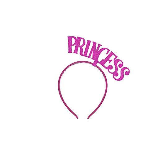 PartyDeco Haarreif für Mädchen, Prinzessinnen-Accessoires, Fuchsia