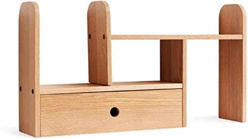 Carpeta de archivos de cajón de estantería de escr Sky expandible Wood Desktop Booktelf Escritorio Organizador de la oficina Almacenamiento de la oficina Estante de madera Montaje Montaje Librería aju