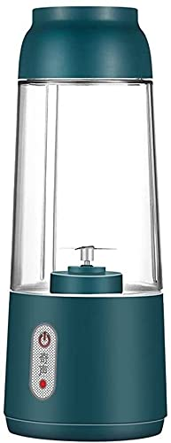 ZCX licuadora Personal USB Recargable Mezclador Juicer Fruta eléctrica Juicer Portátil Pandheld Blender Stirring Mini Procesador de Alimentos licuadora Personal (Color : Green, Size : 2 Bladers)