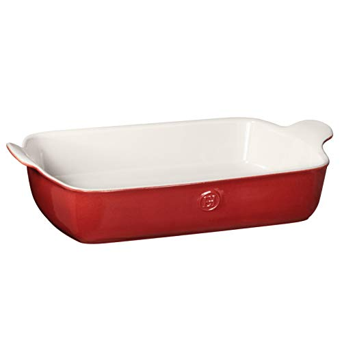"Emile Henry Made In France HR Modern Classics Large Rectangular Baker, 13 x 9"", Red"