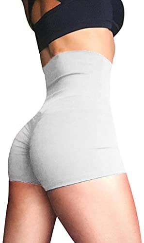 Mujeres Yoga Shorts Fruncido Butt Sport Gym Push Up Running Elástico Cintura Alta Pantalones Cortos Butt Lifting Hot Pants