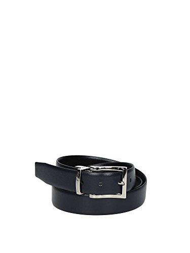 Emporio Armani Men Cintura Tongue reversibile in pelle saffiano Black Belts onesize