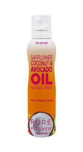 Pure Kitchen Safflower Avocado Coconut Oil Spray, Propellant Free Air Pressure only