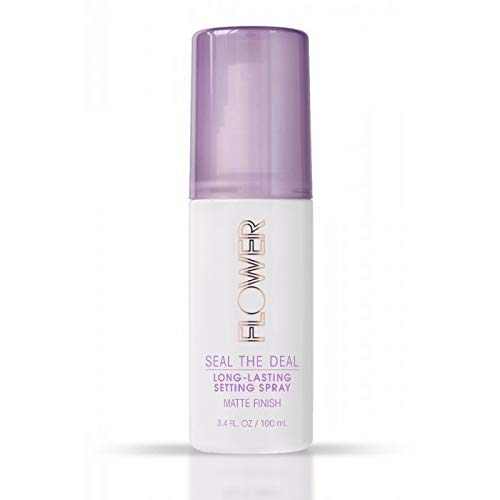 Flower Beauty Seal The Deal Long-Lasting Setting Spray, Matte Finish for All Day Face Makeup, Cruelty-Free 3.4fl oz