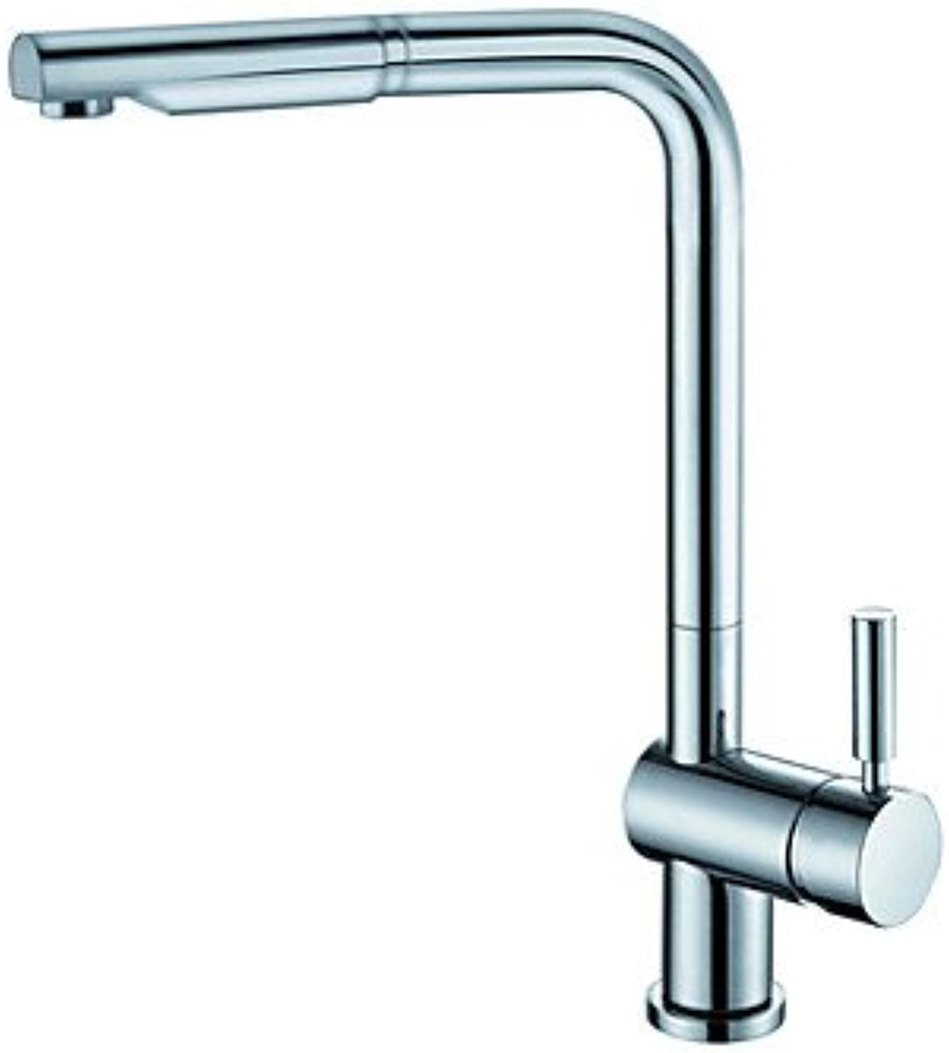 SUNNY KEY-Kitchen Sink Taps@American Standard Deck Mounted Single Handle One Hole with Chrome Kitchen Faucet