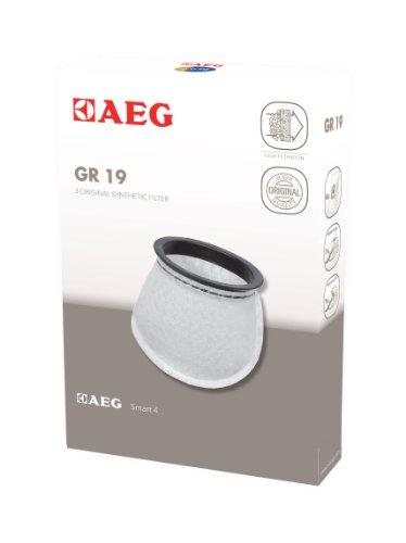 AEG GR19 3 Filtersäckchen (optimale Filtration, verbesserte Saugleistung, lange Nutzungsdauer, für Liliput/Junior AG1411, AG1412 und Progress PC1411, PC1412)